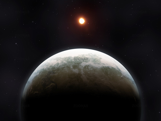 a strange planet in deep space