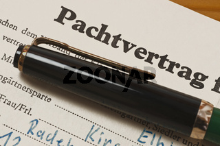 Pachtvertrag | lease contract