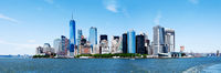 Panorama New York City Manhattan Skyline and Freedom Tower