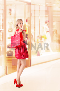 Woman with shopping bag