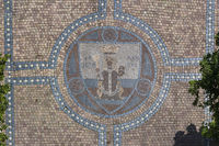 Emblem of holy Gotthard, mosaic,