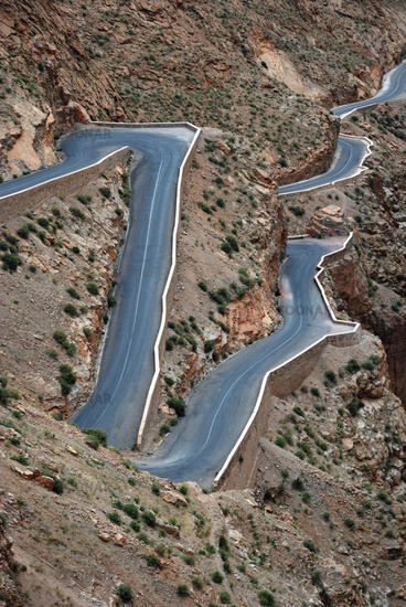 Serpentine ind the Dades Gorge, Morocco, North Africa