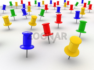 Many thumbsticks on white isolated background. 3d