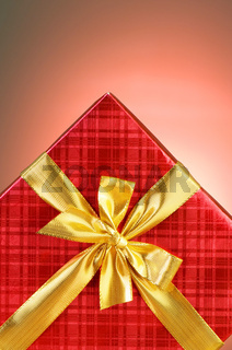 Gift box against gradient background