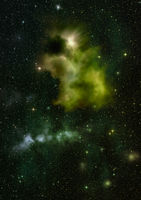 Small part of an infinite star field