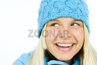 Portrait blondes Mädchen