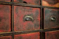 old wooden drawer / cabinet -  vintage furniture