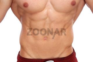 Bauchmuskeln Abs Sixpack Bodybuilder Bodybuilding Muskeln Body Building Freisteller