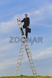 Manager auf der Karriereleiter