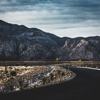 The street through Red Rock Canyon
