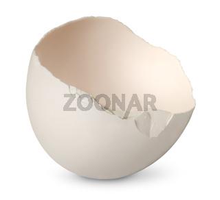 Single half from crashed egg