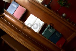 Hymn Books on Piano