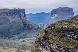 View from Morro do Pai Inacio in the valley, Chapada Diamantina, Brazil
