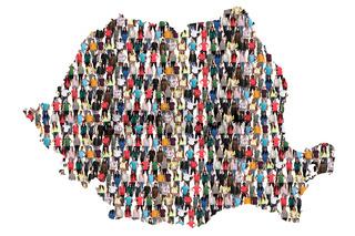 Rumänien Karte Leute Menschen People Gruppe Menschengruppe multikulturell