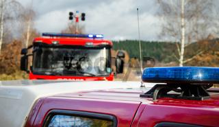 Light of fire engines