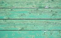Green weathered wooden background - wooden boards horizontal