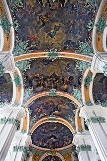 barockes Deckengewšlbe der Stiftskirche St. Gallen