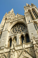 Close up of the front of Truro Cathedral