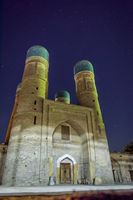 Chor minor mosque at night, Bukhara