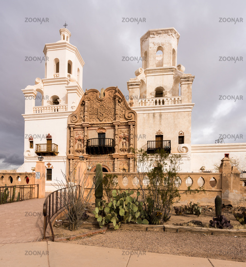San Xavier del Bac Mission outside Tucson Arizona