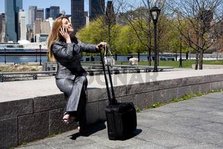 Entrepreneur woman on phone