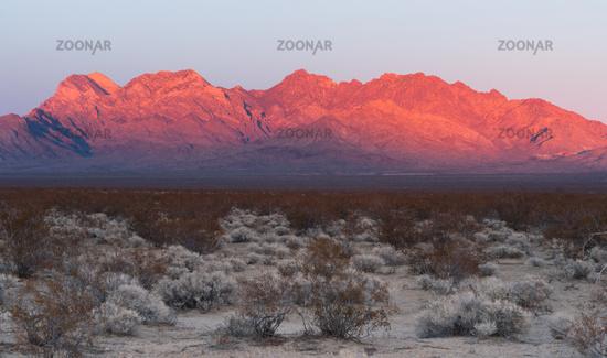 Providence Mountains Fountain Peak Mojave Desert Landscape