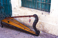South American Harp on the streets of Cusco