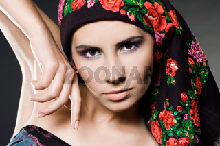 fashion woman with black hat