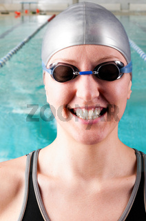 smiling woman swimmer