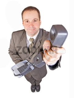 man with telephone