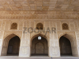 Diwan-i- Khas (Hall of Private Audience) in Agra Fort, Uttar Pradesh, India