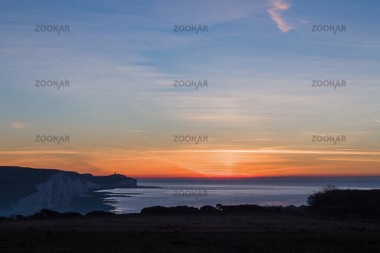 Sunrise From Seaford Head