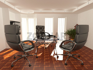 Office interior. Armchair