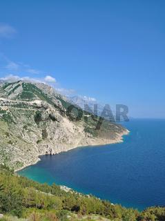 Kueste bei Brela an der Makarska Riviera,Adria,Dalmatien,Kroatien