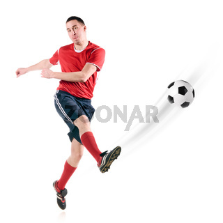 player hits the ball