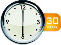 office wall clock timer 30 minutes