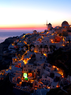A late evening at Oia village