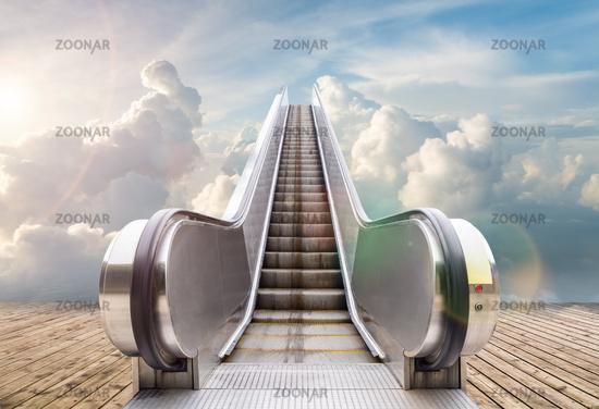 outdoor escalator to the sky