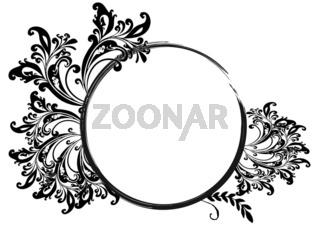 Rahmen Floral Vorlage rund