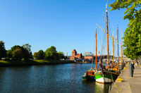 view of Lubeck, Germany