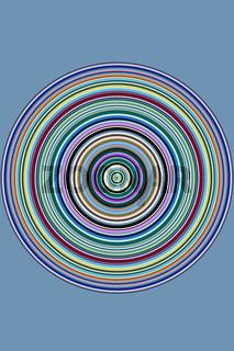 Rundes farbiges Streifenmuster