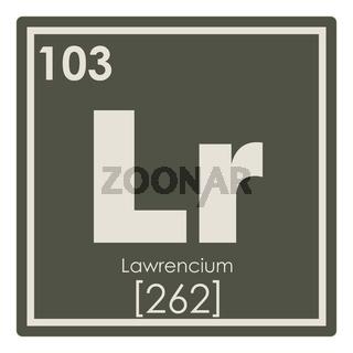Lawrencium chemical element