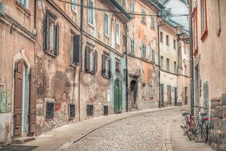 Old street alley in Ljubljana