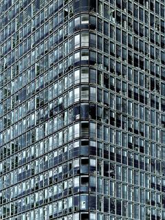 Moderne Hochhausfassade