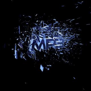 explodierende buchstaben mp3 - 3d illustration