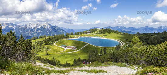 View from the mountain top Hoess in Hinterstoder at the Austrian Alps