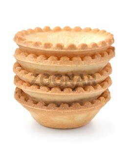 Stack of fresh baked tart shells