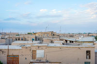 Mud houses in Khiva downtown