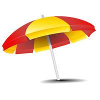 isolated Beach Umbrella