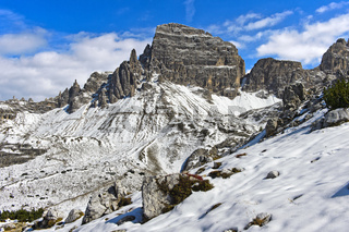 In den Sextner Dolomiten bei der Drei-Zinnen-Hütte, Südtirol, Trentino-Alto Adige, Italien